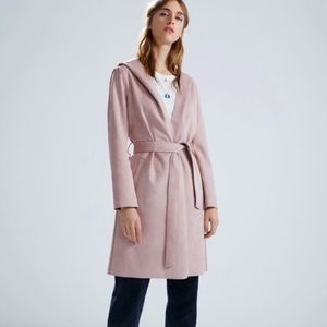 Zara Dusty Rose Suede Jacket